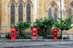 Three phone boxes