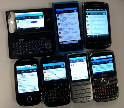 Twitter on feature phones