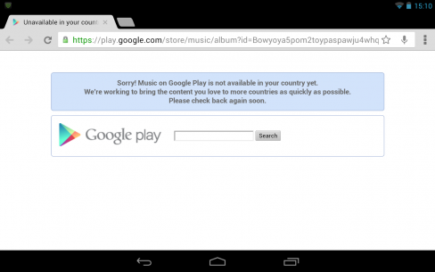 Google Play Store Geolocation roadblock