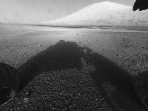 Curiosity Rover's view of Mount Sharp