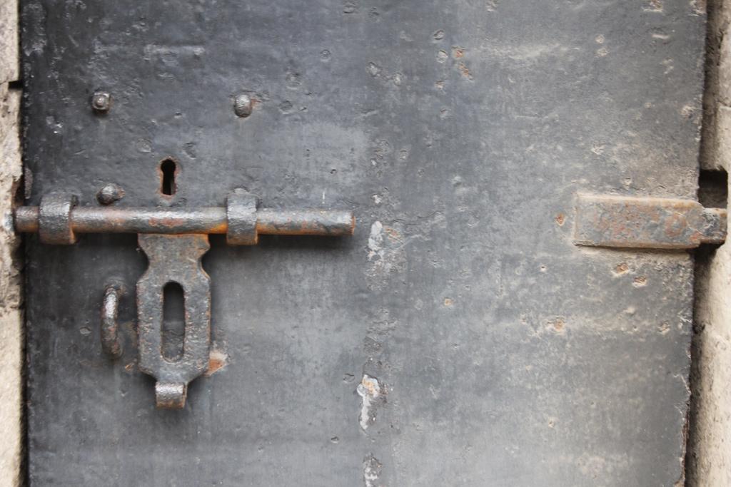 Locked Jail Door
