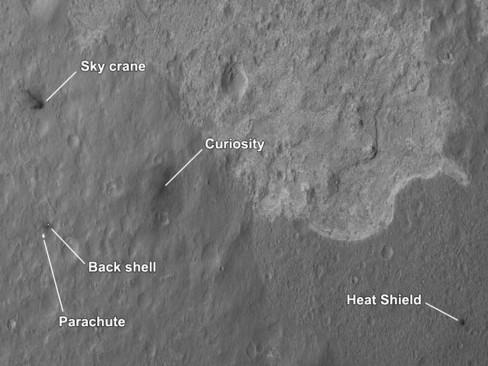 Mars Curiosity Rover debris