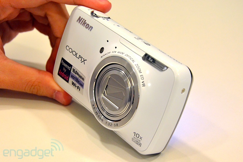 Nikon S800c camera face