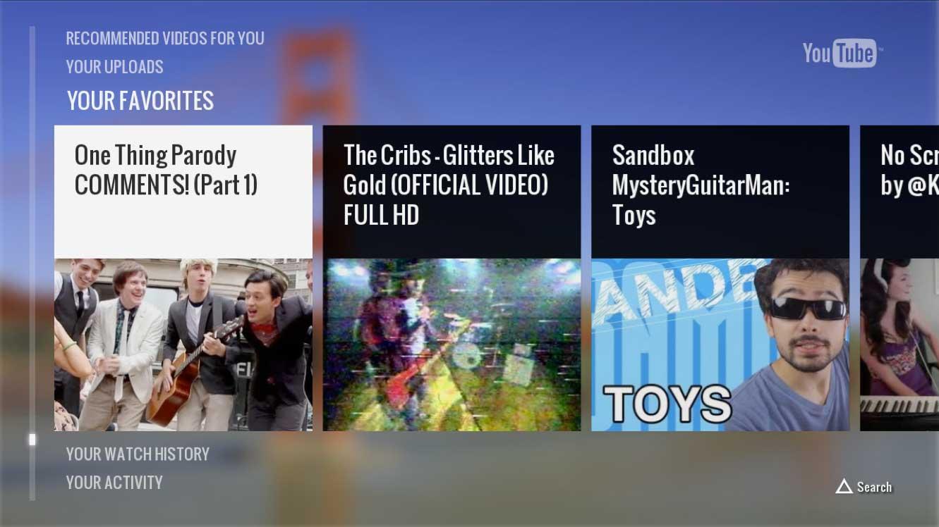 YouTube's new PS3 app