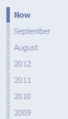 Facebook Timeline dates