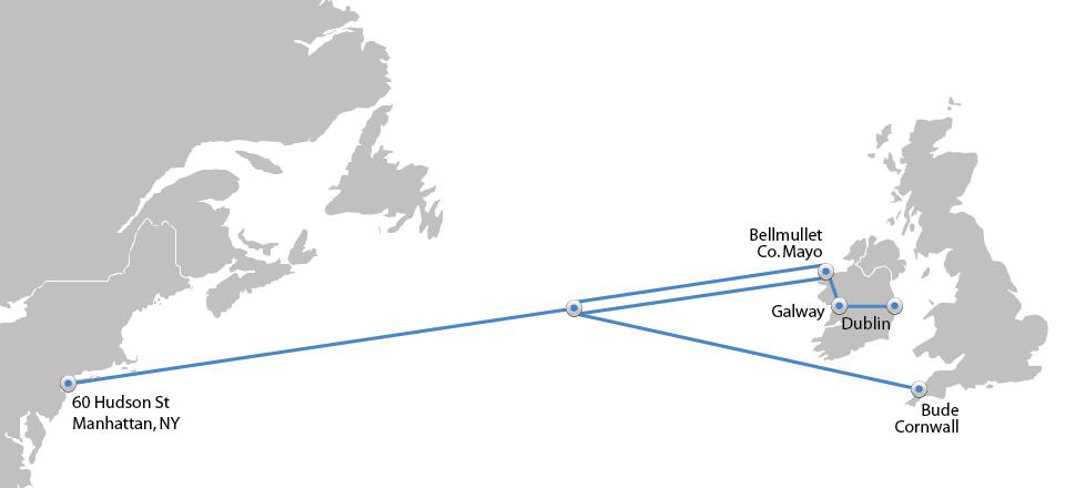 Pipiper's Translantic fibre optic route