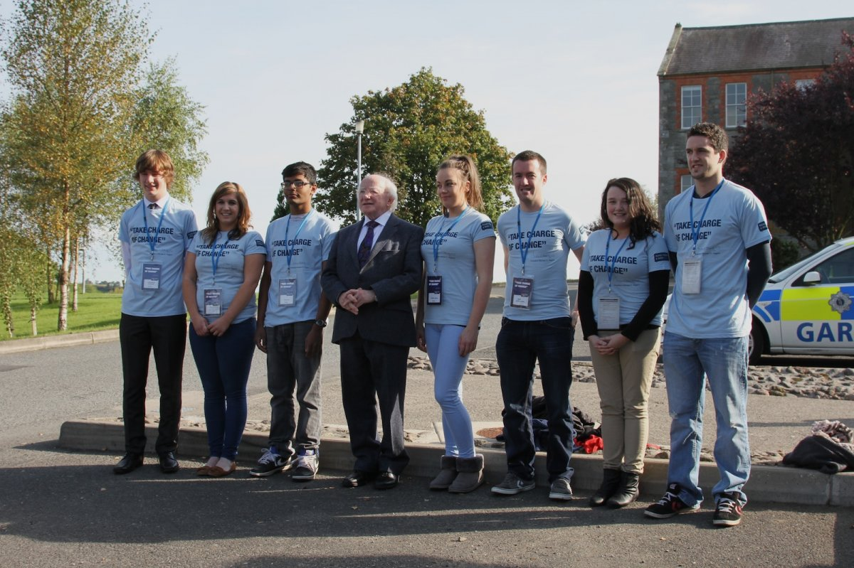Some of the Being Young and Irish volunteers