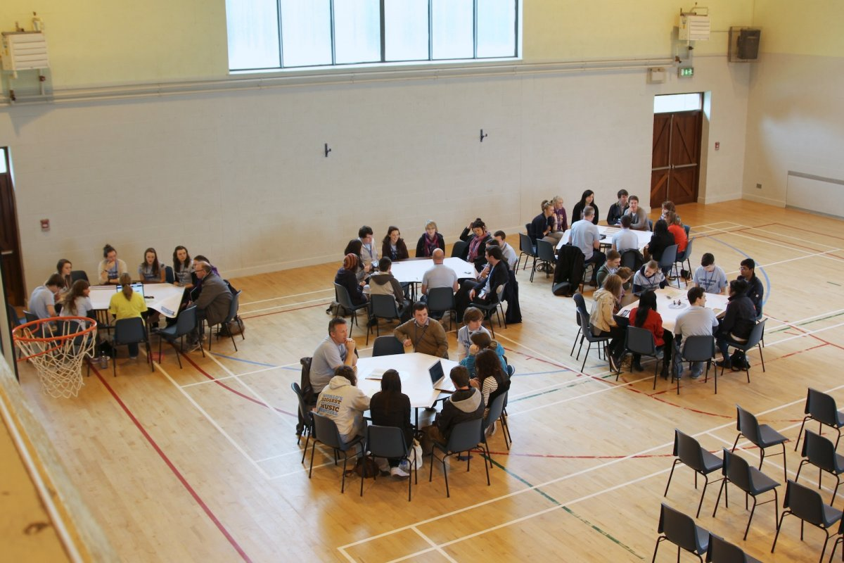 Being Young and Irish roundtable workshop underway