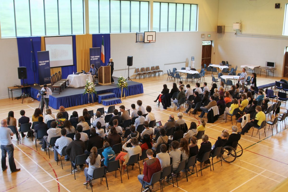 The crowd at Being Young and Irish regional workshop in Monaghan
