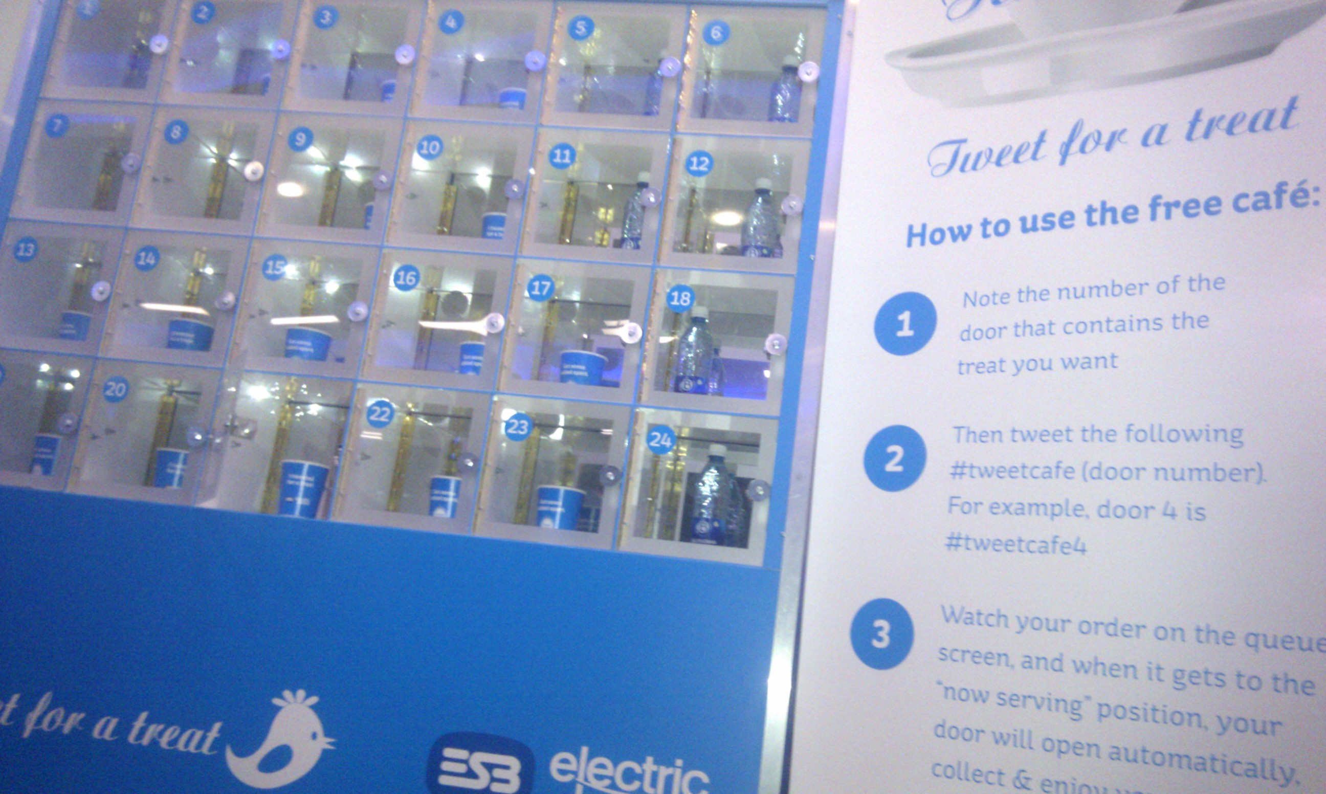 Electric Ireland Tweet for a treat Twitter Café system