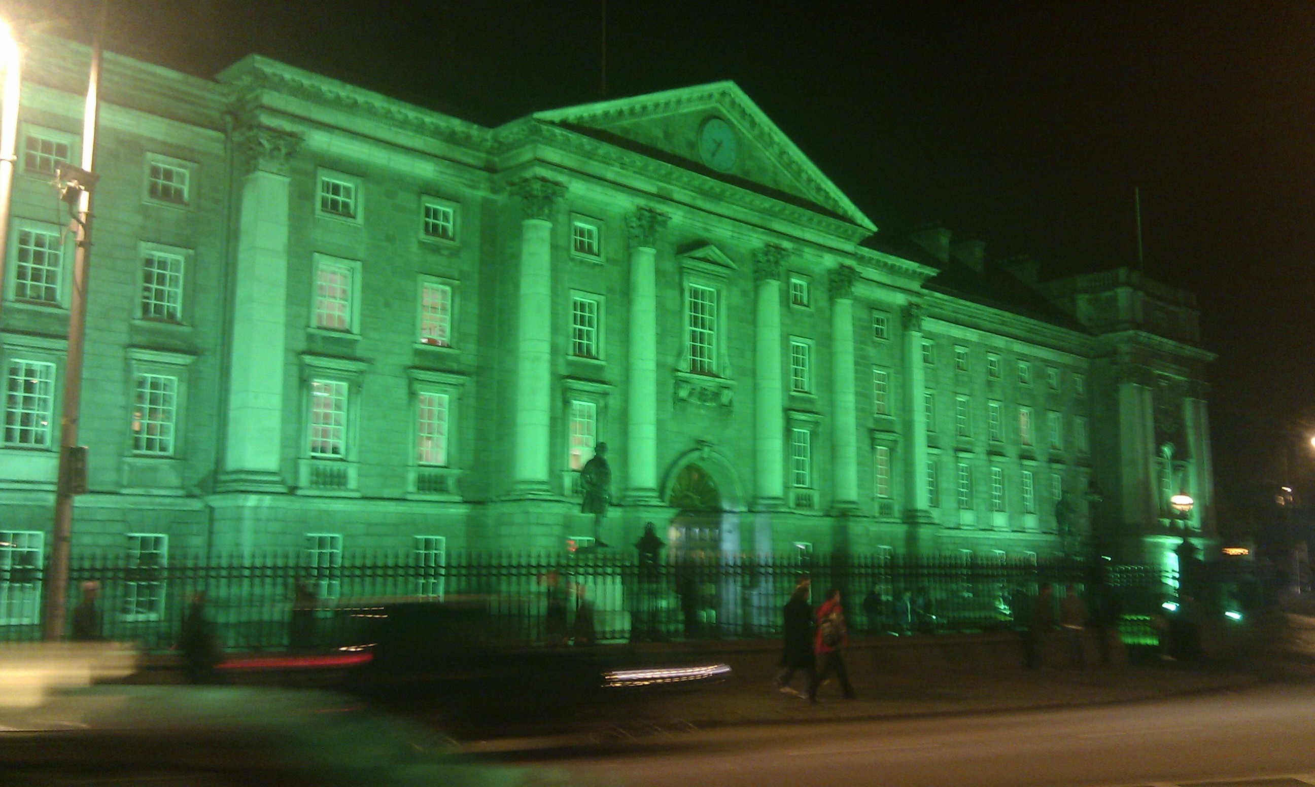 Dublin City's Trinity College at Night