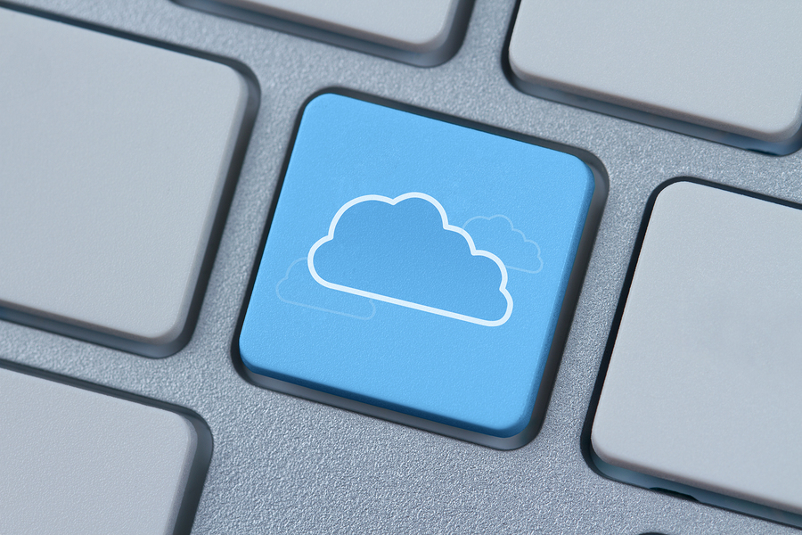 Cloud computing keyboard symbol