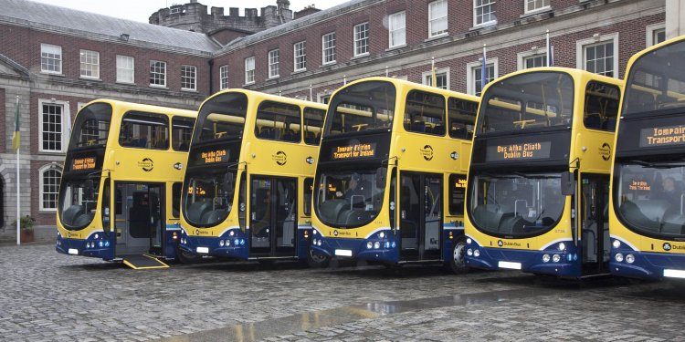 Some of Dublin's new Wi-Fi-enabled fleet