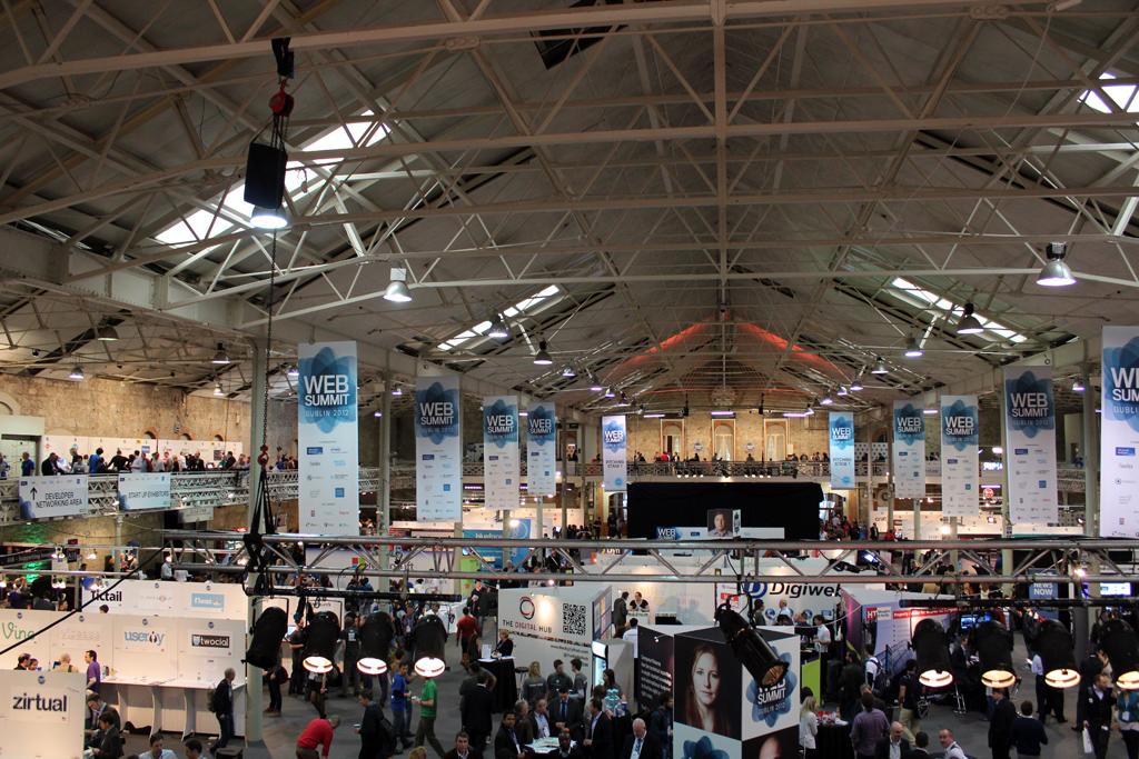 Dublin Web Summit's venue at the Royal Dublin Society
