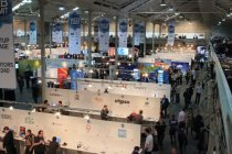 Some of the 370 or so startups exhibiting at the Dublin Web Summit.