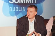Dermot Williams, Managing Director of Threatscape, during a security panel discussion in the Cloud Stage.