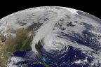 Hurricane Sandy approaches the East coast of the United States