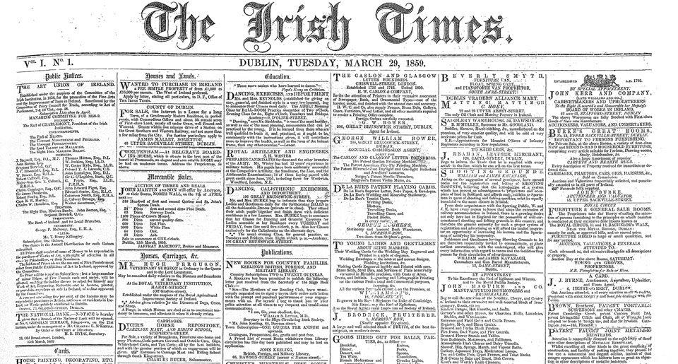 Irish Times first edition