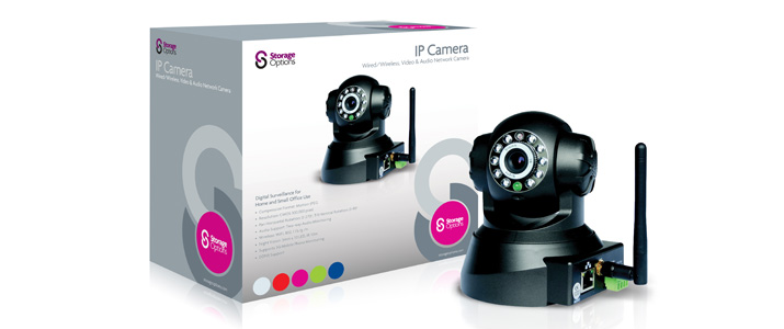 Storage Options' home and office wireless CCTV IP camera