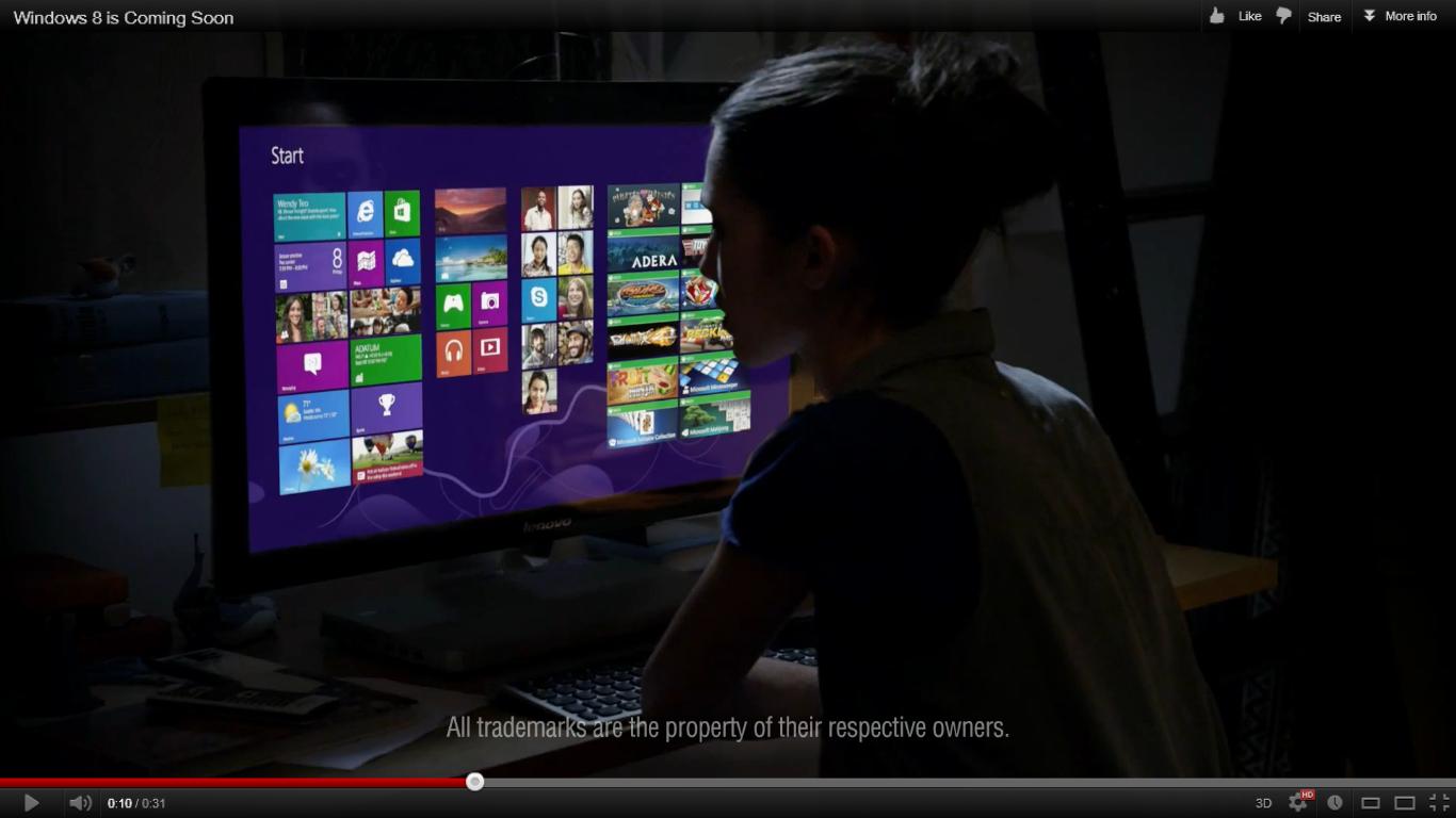 Windows 8 ad