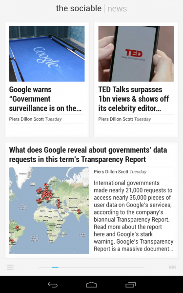 The Sociable on Google Currents