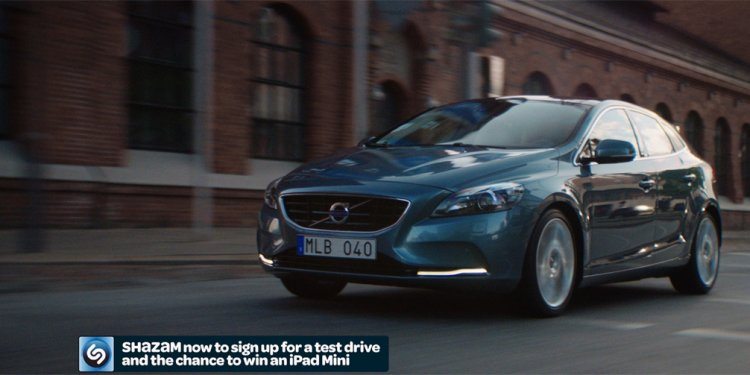 Shazam second screen for Volvo