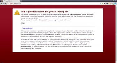 Browser security error