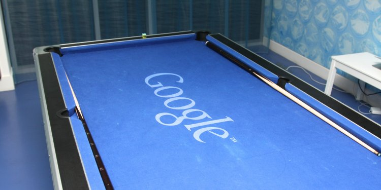 Google pool table. Credit: The Sociable