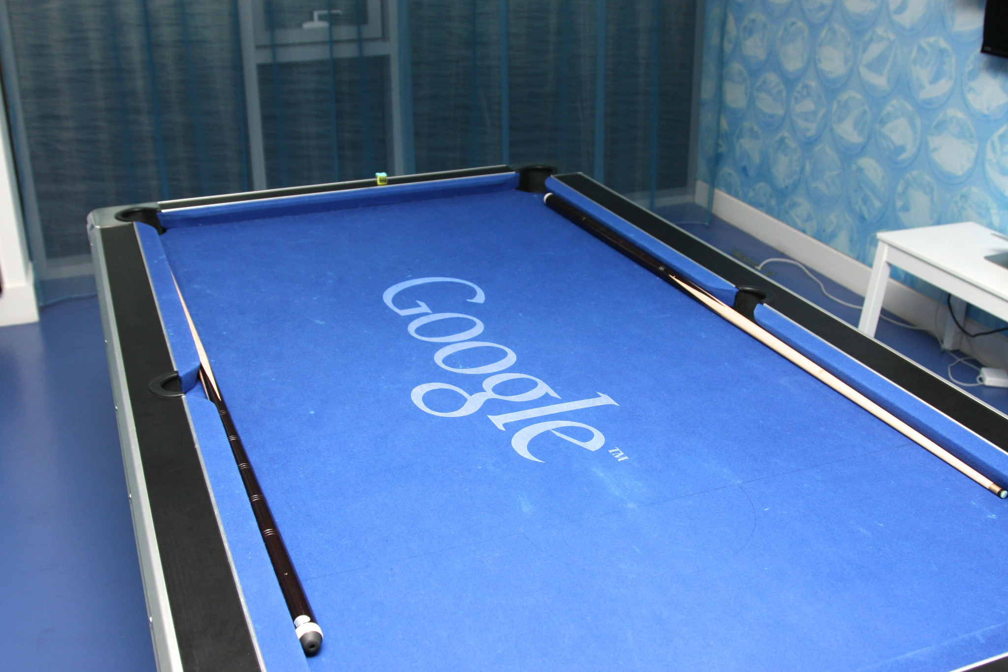 Google pool table. Credit: The Sociable