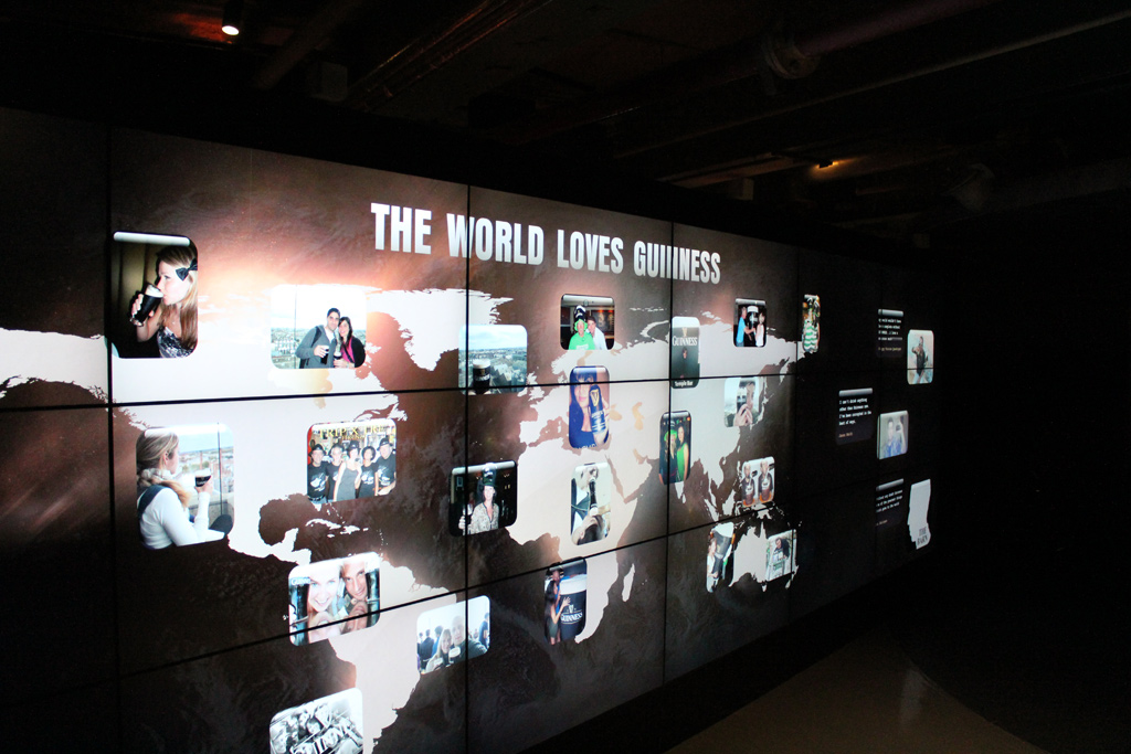 One of the highest definition displays in the world - in the Guinness Storehouse