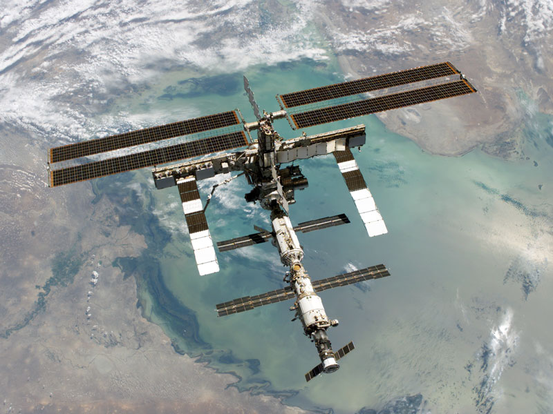 The International Space Station, ISS, and Earth