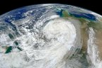 NASA image of Hurricane Sandy.
