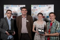 Piers Dillon-Scott collects the best technology website award