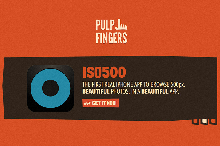 Pulpfingers' ISO500 app