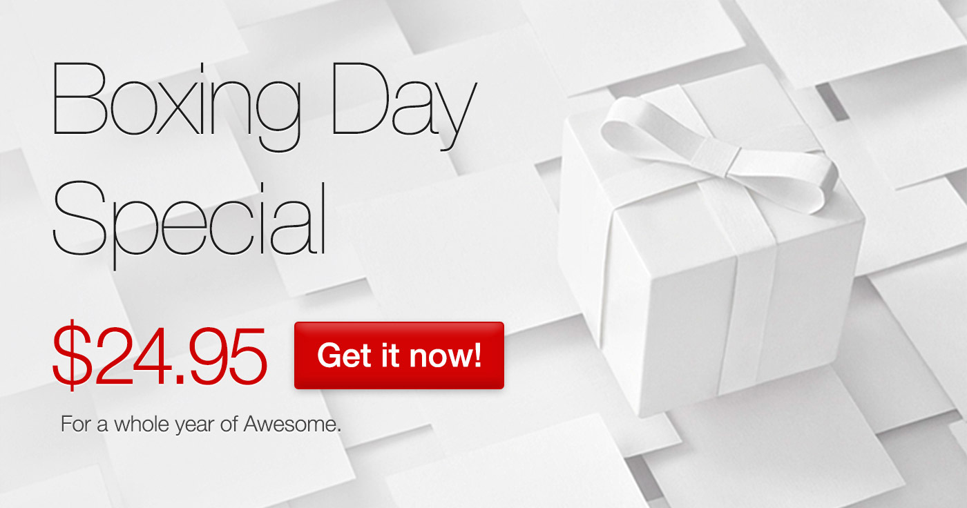 500px Boxing Day special offer