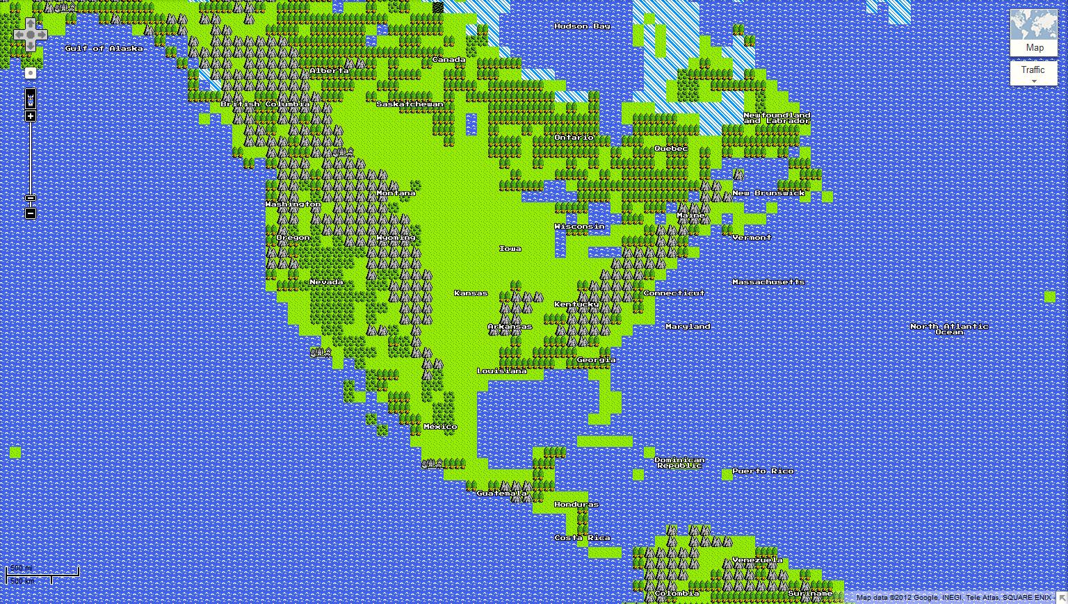 8 bit Google Maps