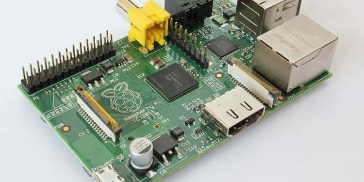 Raspberry Pi board. Credit Wikimedia