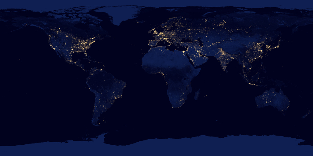 NASA high resolution image of the Earth at night