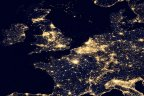 NASA image of Europe at Night