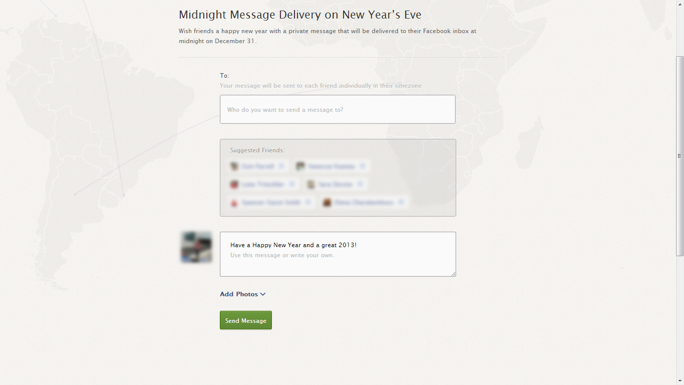 facebook midnight delivery new years app