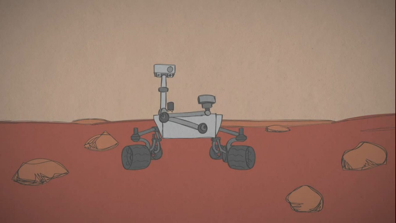 How does NASA drive the Mars Curiosity Rover