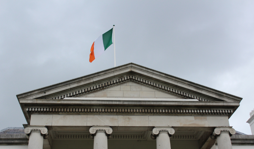 Irish flag over the President's Residence