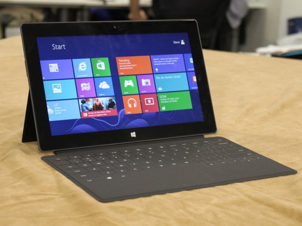 Microsoft's 10.6-inch surface tablet running Windows RT (Runtime)