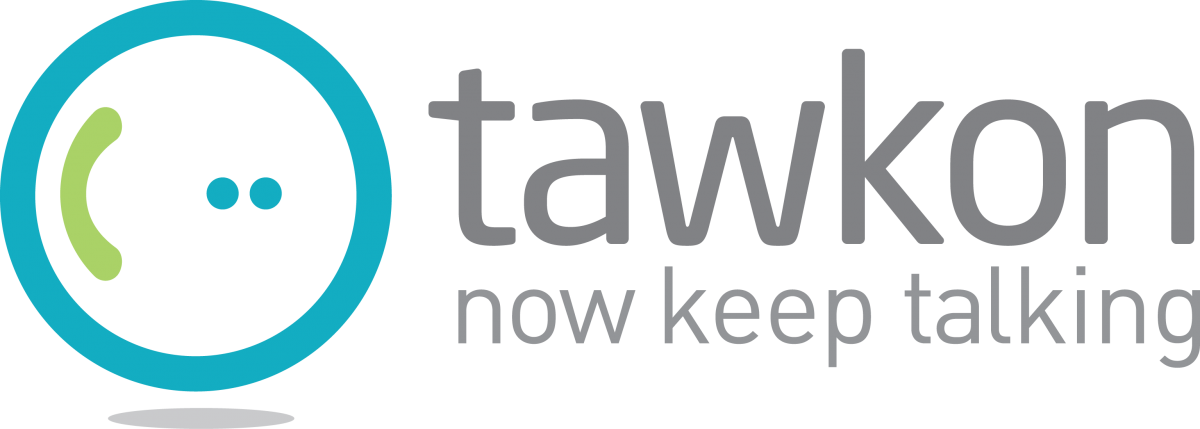 Tawkon logo and slogan