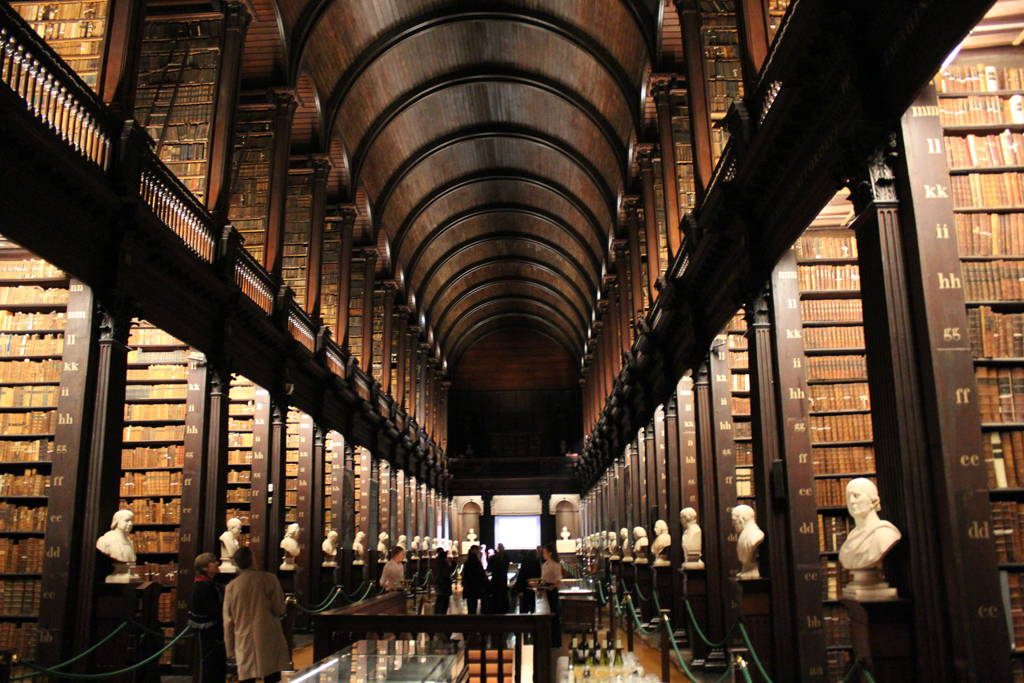 The Long Room in Trinity College Dublin