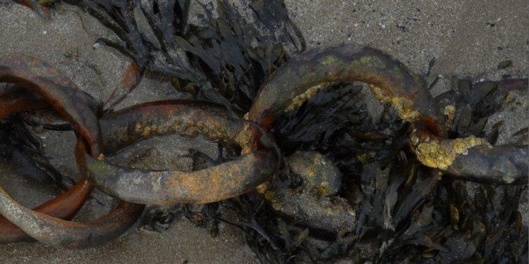 Chains on a beach