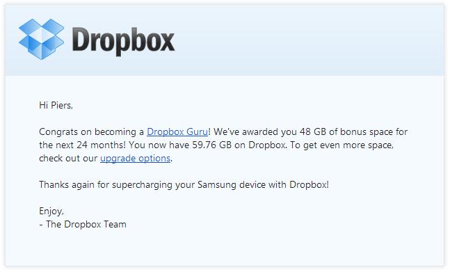 Samsung Dropbox Guru