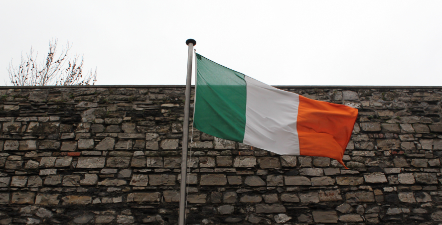Irish flag in Kilmainham Gaol