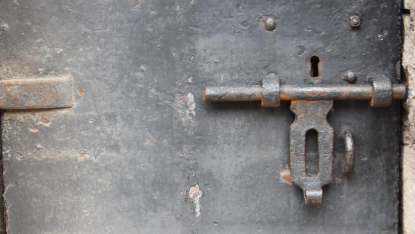 locked prison door