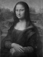Mona Lisa - Black and White
